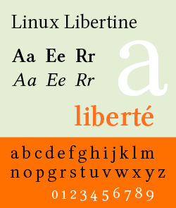 Linux Libertine G and Linux Biolinum G for LibreOffice and